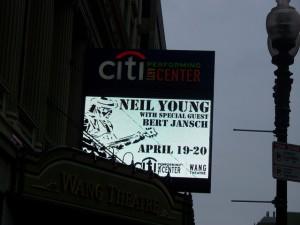 Bert Jansch Neil Young at Boston 2011