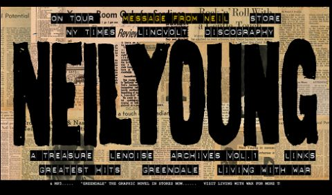 Neil Young's official homepage has a new look