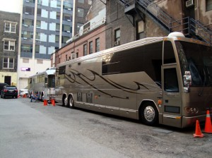 Neil Young tour bus in Toronto