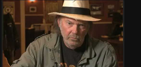 Neil Young interview with two hats, Daniels Lanois, and Le Noise