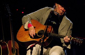 Neil Young performs at the Dolby Theatre in Hollywood. (Brian van der Brug / Los Angeles Times